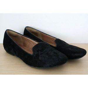 CLARKS Artisan Black Calf Hair Slip On Flats Shoes